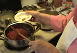 Still frame from: Making Moraivan Goulash with pickles and Potato Peel Soup